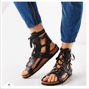 Urban Outfitters Leather Zeda Gladiator Sandals